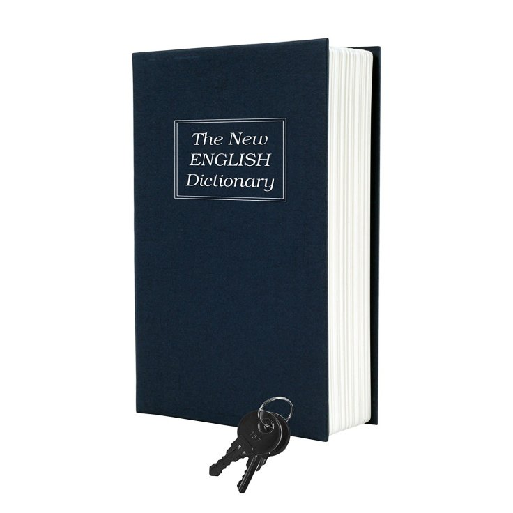 Stalwart Diversion Dictionary Book Safe with Key Lock Metal 6 x 9 in 1.png